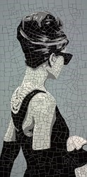 Audrey by David Arnott -  sized 48x23 inches. Available from Whitewall Galleries